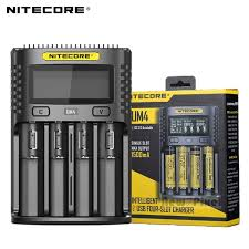 <b>100</b>% <b>Original Nitecore</b> UM4 USB QC Battery Charger Intelligent ...