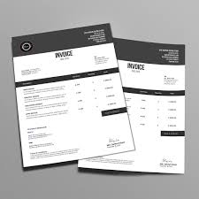 invoice template design minimalist invoice template design on behance