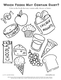 Small Picture Food Coloring Pages For Preschoolers esonme