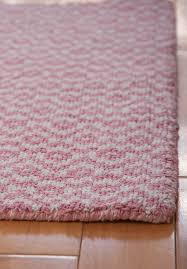 toulouse pink white eco cotton loom hooked rug hook