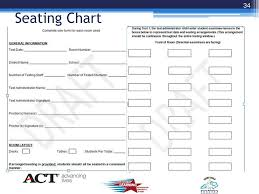 Testing Seating Chart Ppt Qualitycore New Dac Bac Test Administration Training