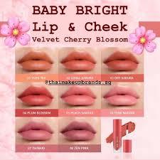 baby bright lip cheek velvet cherry