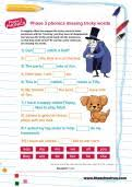Worksheet for (very) young learners who have just started reading. Reception Phonics Worksheets By Subject Theschoolrun