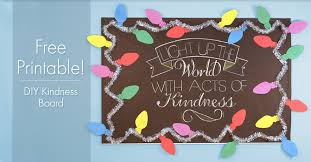 need a bulletin board idea for the holidays this festive and colorful diy kindness board will light up your classroom and help children learn about