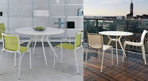 biplane contemporary white round tables from 690