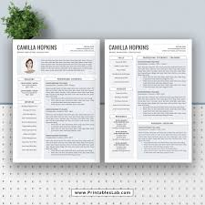 Best Selling Digital Office Word Resume Template With Cover Letter