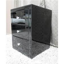 vegas white glass mirrored bedside tables. Chic Black Glass Nightstand Vegas Mirrored Bedside Table Chest White Tables E