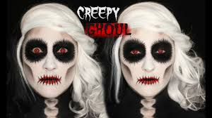 creepy ghoul makeup tutorial 31 days of glamnanne