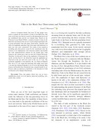Pdf Tides In The Black Sea Observations And Numerical