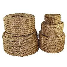 Twisted Manila Rope Hemp Rope 1 In X 25 Ft Sgt Knots Tan Brown Natural Rope Thick Heavy Duty Rustic Outdoor Cordage For Craft Dock