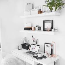 cutest home office designs ikea. Minimal Desk Ikea Floating Shelves With Rose Gold Detail Deko Cream Small Shoe Rack Ideas Alcove Cutest Home Office Designs