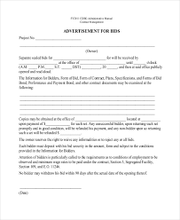 Contract Bid Proposal Sample Contractor Proposal Forms 7 Free Documents In Pdf Word