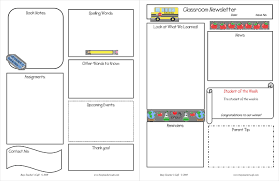 Free Teacher Newsletter Templates 10 Classroom Newsletter Templates Free And Printable Designs