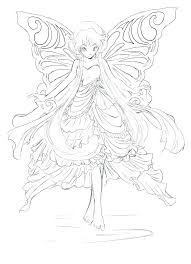 Coloring Pages Fairy Fairy Coloring Pages Book Great Goth For Adults