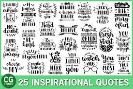 Caluya design | free svg. Inspirational Quotes Bundle Graphic By Crystalgiftsstudio Creative Fabrica