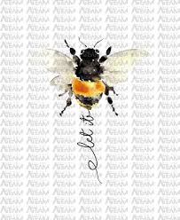 Bee Design Bahrain Let It Be Png Bee Png Hello Summer Png By Lupinart