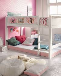 Magnificent Teenage Bedroom Decoration With Various Cool Teenage Bunk Bed :  Magnificent Pink Girl Teen Bedroom