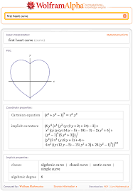 the first heart curve in wolfram alpha