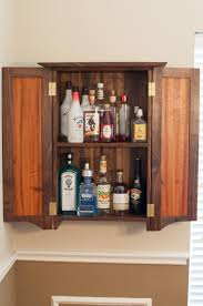 dovetailed wall hanging liquor cabinet