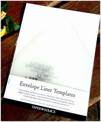 Sample Envelope Liner Template | Cvfree.pro