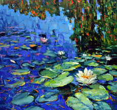 saatchi art artist dmitry spiros painting blooming water lilies art