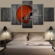 cleveland browns american football it make your day on cleveland browns wall art with 5 piece cleveland browns football canvas wall art paintings sale