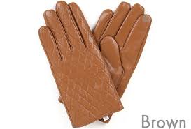 new men s quilted leather gloves winter warm smart touch screen gentleman argyle