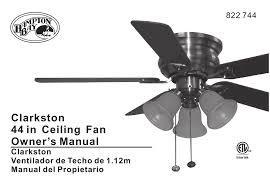 hampton bay clarkston owner s manual