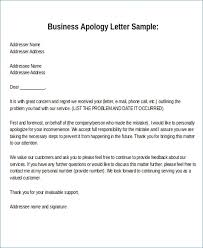 Apology Letter Format Theunificationletters Com