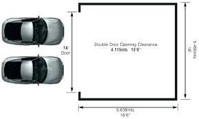 double garage door width org standard dimensions height charming