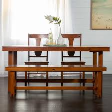 oak dining room sets. Walker Edison Furniture Company Huntsman 6-Piece Dark Oak Dining Set Room Sets