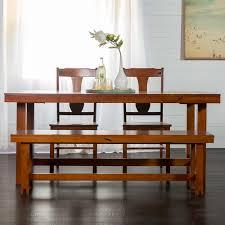 walker edison furniture company huntsman 6 piece dark oak dining set