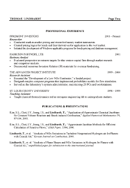 engineering resume summary