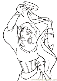 Hunchback Notre Dame Coloring 10 Coloring Page Free Miscellaneous