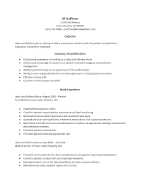Labor And Delivery Nurse Resume