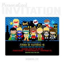 Personalized Superhero Birthday Invitations Superhero 2 Personalized Party Invitation