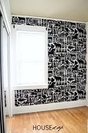 staple a gorgeous fabric to the wall for a quick and completely removable wall treatment