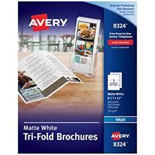 Fold Flyer Amazon Com Averytri Fold Printable Brochure Paper Inkjet Printers