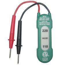 110v Test Light Commercial Electric 110 220v Ac Dc Voltage Tester