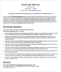 it service manager resume