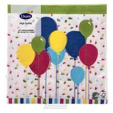 Купить <b>Салфетки бумажные DUNI Balloons</b> and cofetti, 3-слойные ...