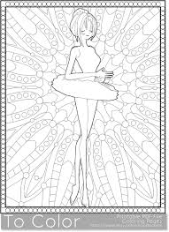 Ballet Printable Coloring Pages For Adults