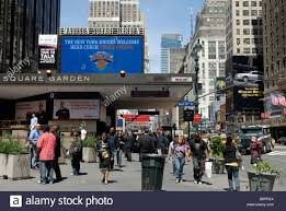 the entrance to pennsylvania station and madison square garden in new york