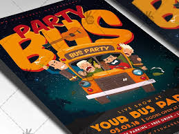 Party Bus Night - Club Flyer Psd Template By Psd Market - Dribbble
