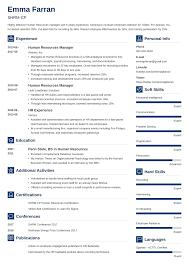 Hr Coordinator Cv Sample Human Resources Resume Sample Writing Guide 20 Examples