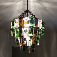 or a beer bottle chandelier from barlite com or make your own