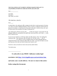 Sample Settlement Letter Best Resumes