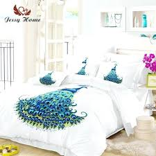 peacock bedding set queen size blue bird duvet cover animal bed bedclothes us hummingbird covers next bird duvet cover design covers berry set blue