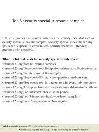 security specialist ...