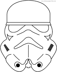Star Wars Color Page Cartoon Characters Coloring Pages Color Plate